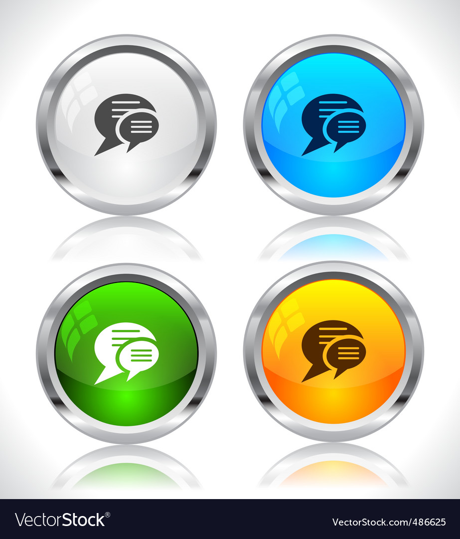 Metal web buttons vector | Price: 1 Credit (USD $1)