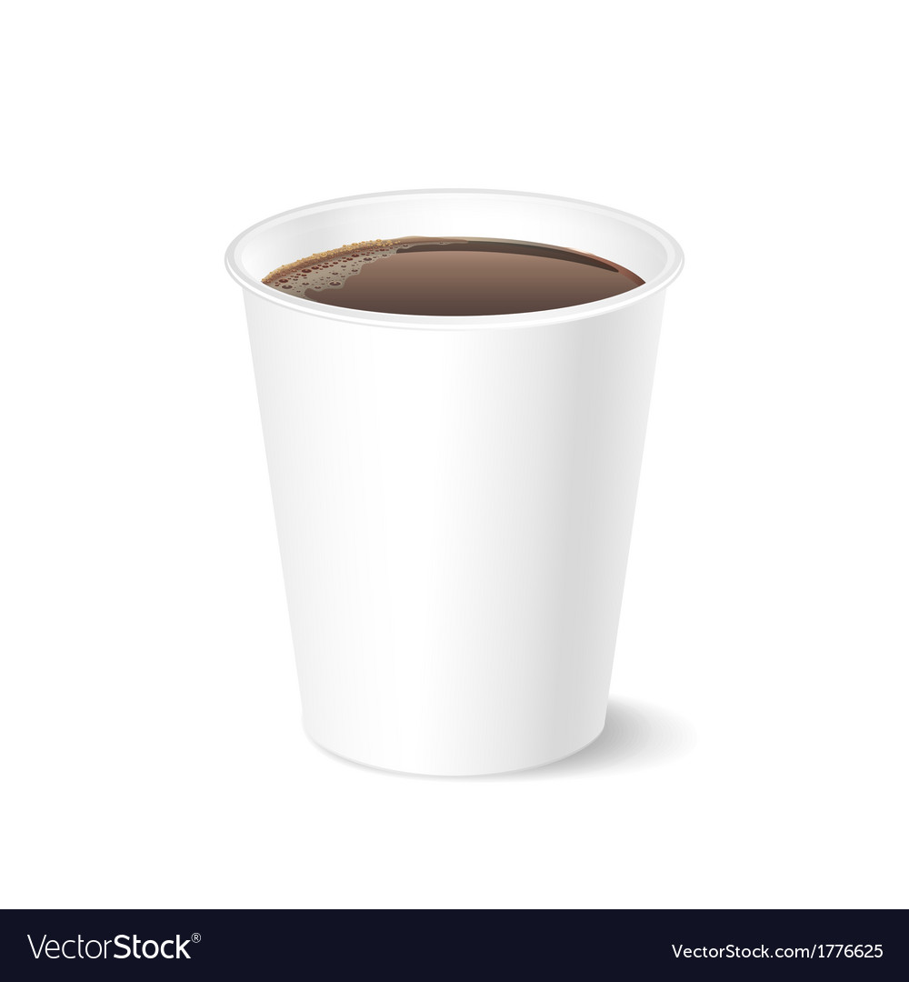 Opened take-out coffee isolated on a white vector | Price: 1 Credit (USD $1)