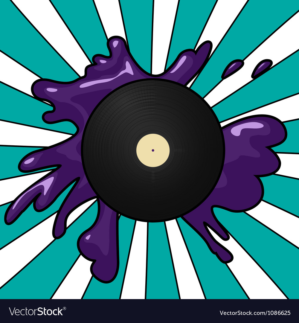 Vinyl pop background vector | Price: 1 Credit (USD $1)