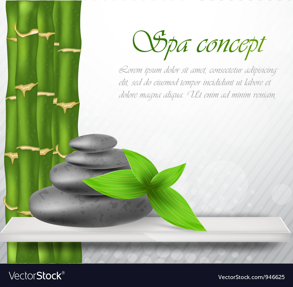 Zen stone with bamboo vector | Price: 1 Credit (USD $1)