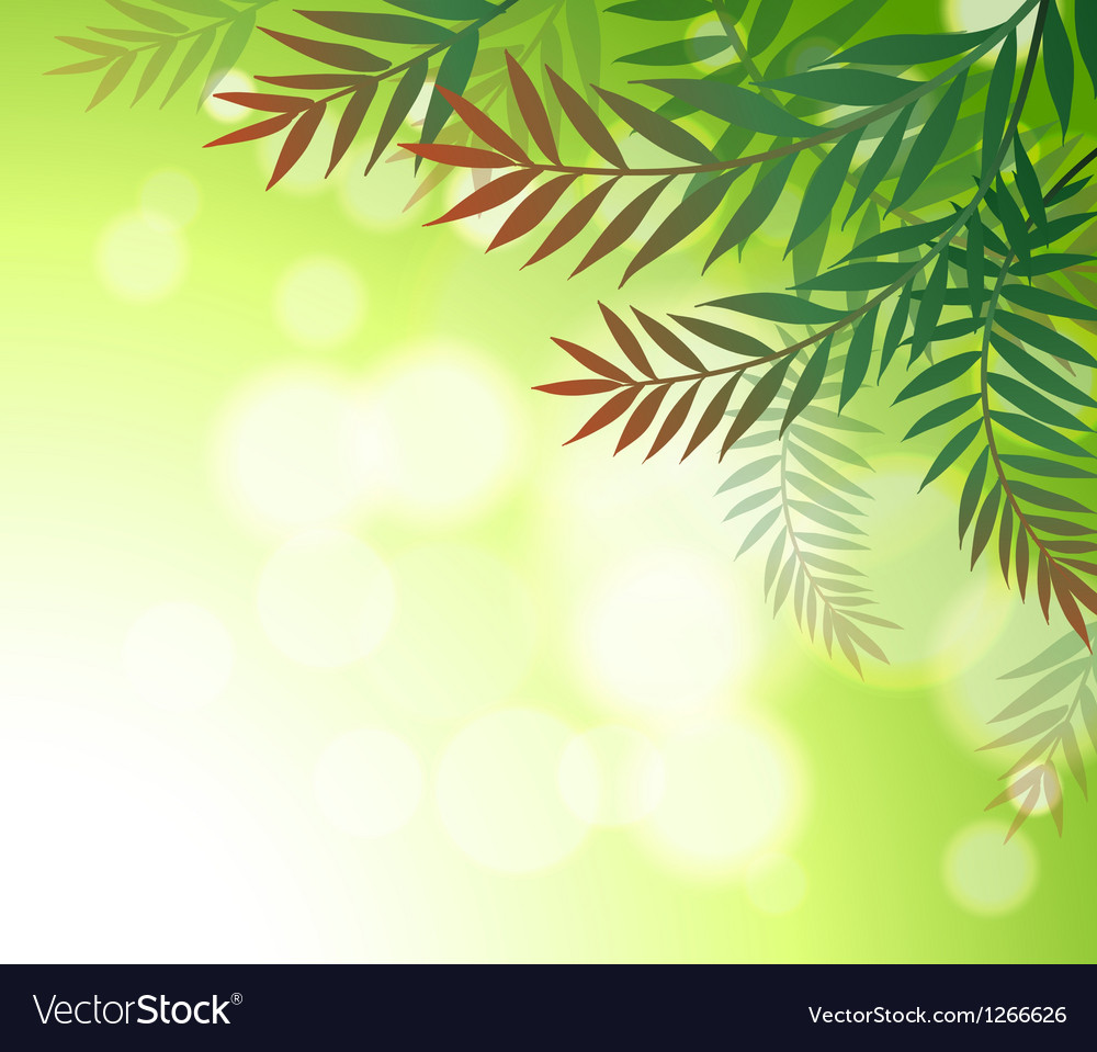 A green stationery with leaves vector | Price: 1 Credit (USD $1)