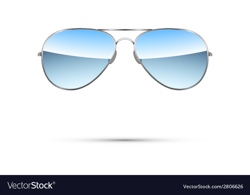 Aviator sunglasses isolated on white vector | Price: 1 Credit (USD $1)