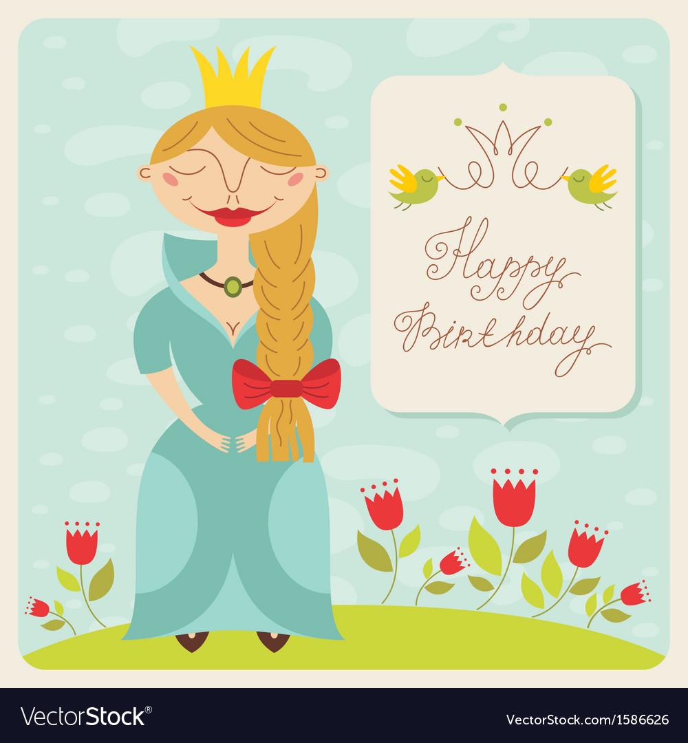 Birthday princess card vector   Price: 1 Credit (USD $1)