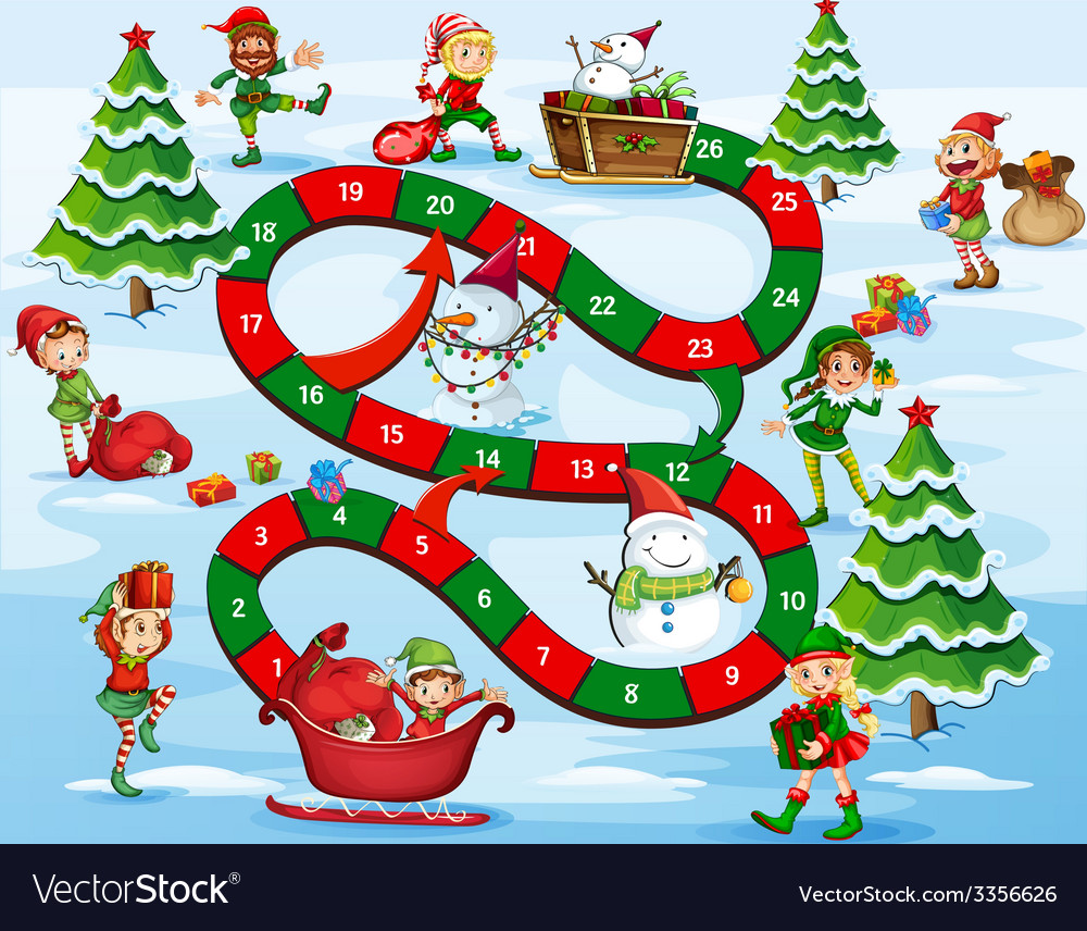 Christmas board game vector | Price: 3 Credit (USD $3)