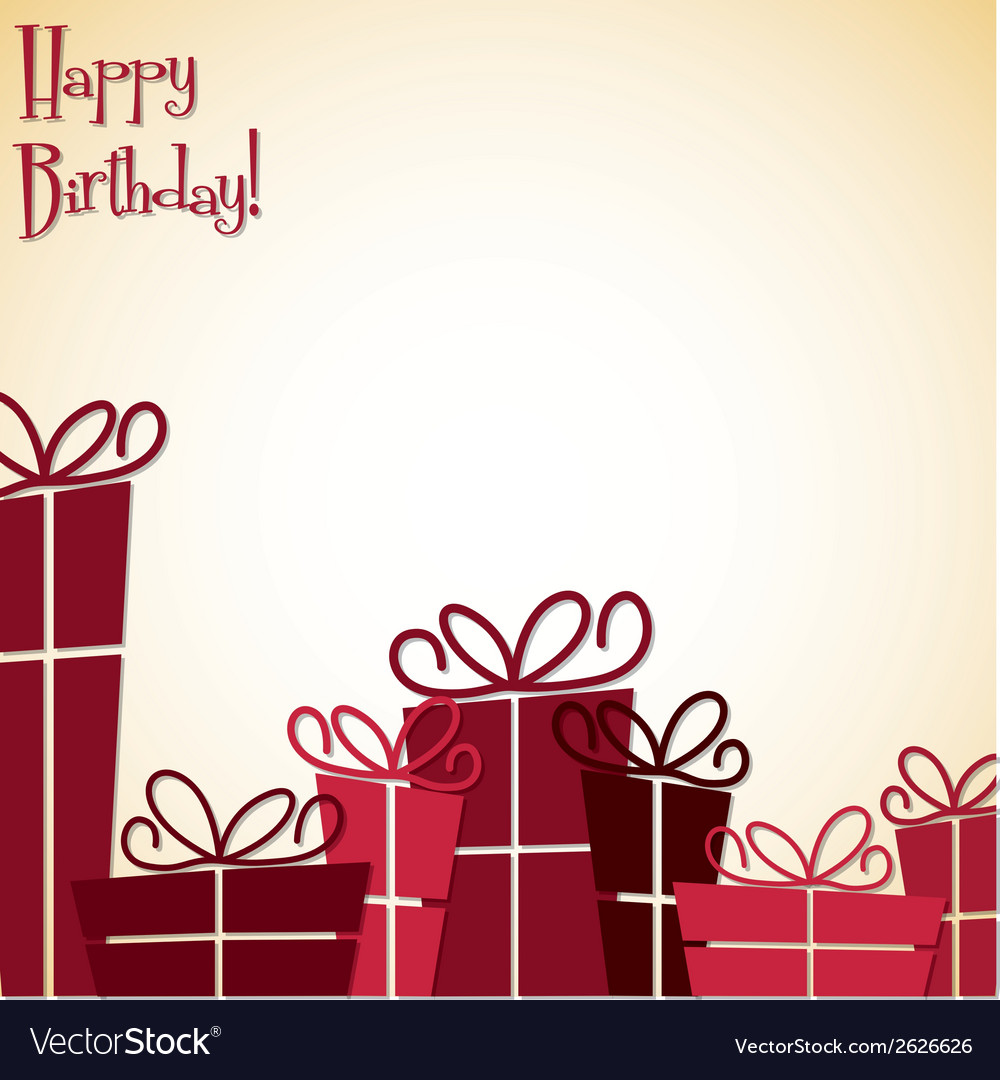 Collection of bright retro presents card in format vector | Price: 1 Credit (USD $1)