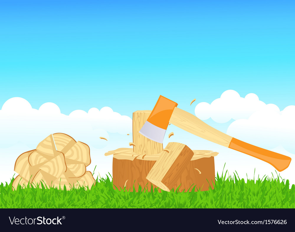 Firewood chop vector | Price: 1 Credit (USD $1)