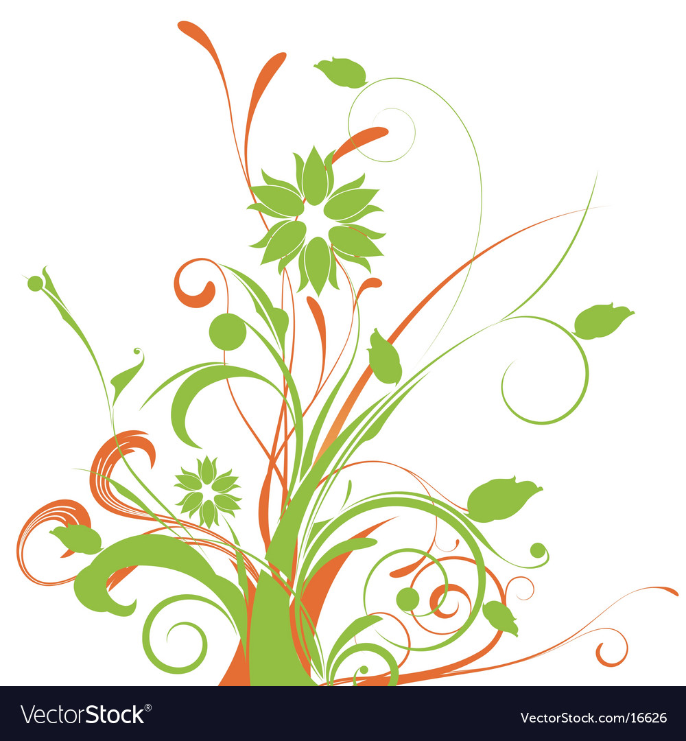 Floral graphic arrangement vector | Price: 1 Credit (USD $1)