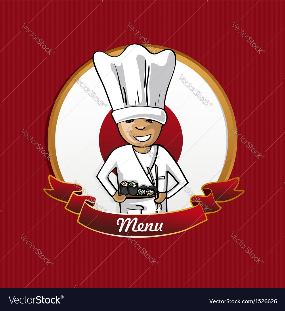 Food from japan menu poster vector | Price: 1 Credit (USD $1)