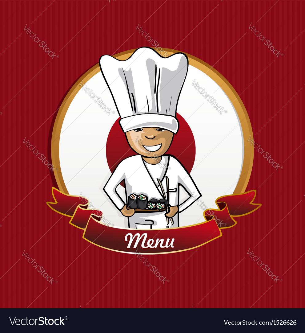 Food from japan menu poster vector   Price: 1 Credit (USD $1)