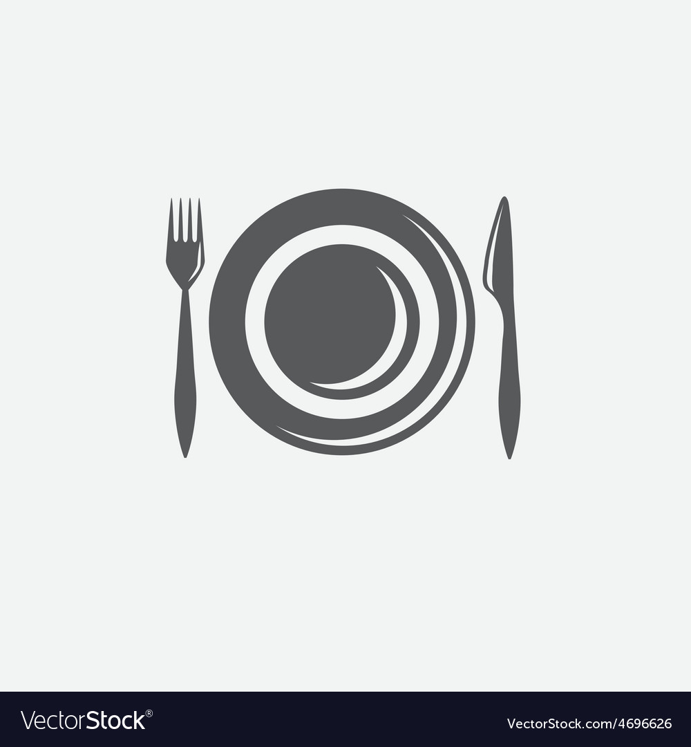 Forkknife and plate design template vector | Price: 1 Credit (USD $1)