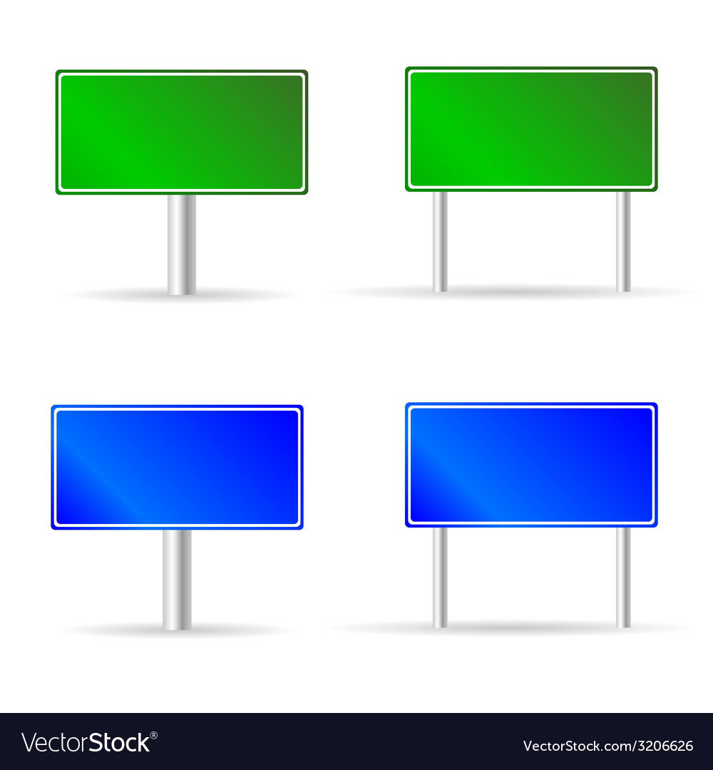 Green and blue traffic road sign vector | Price: 1 Credit (USD $1)