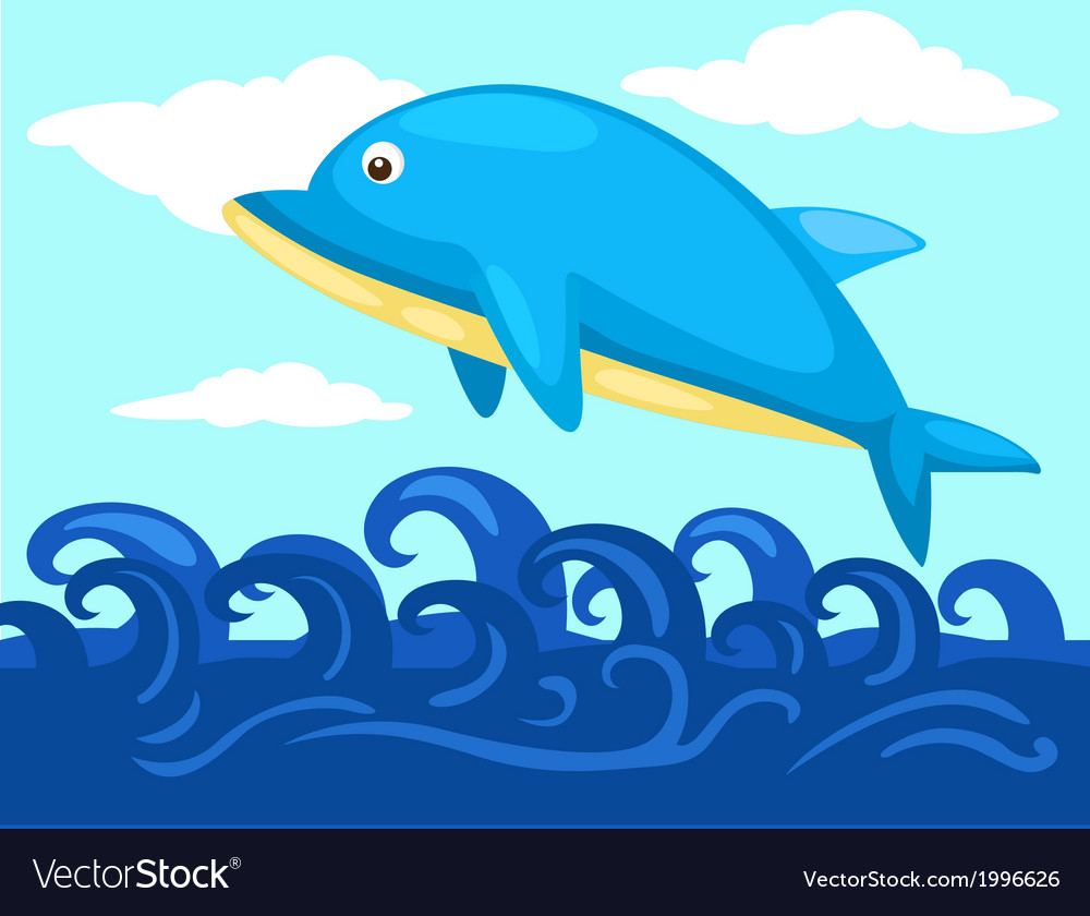Jumping dolphin vector | Price: 1 Credit (USD $1)
