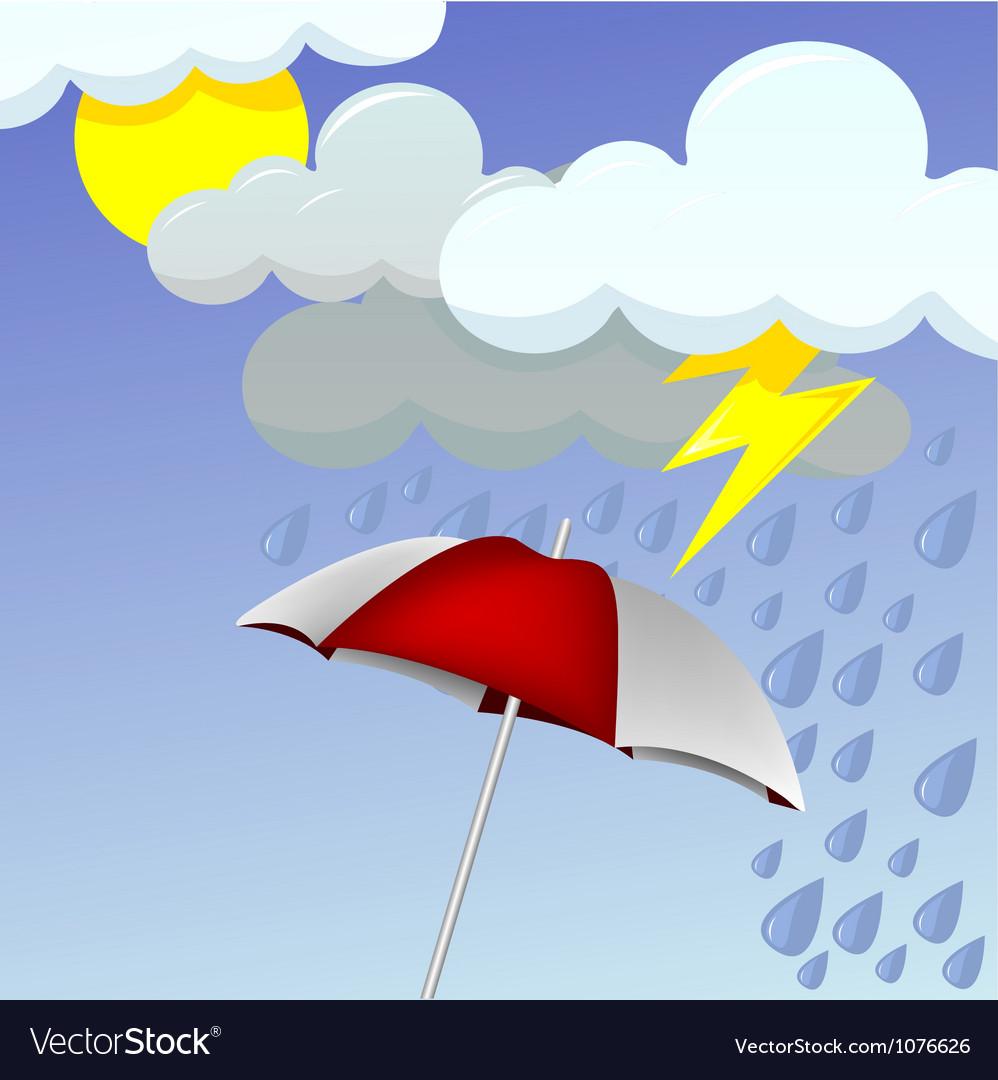 Rainy day vector | Price: 1 Credit (USD $1)