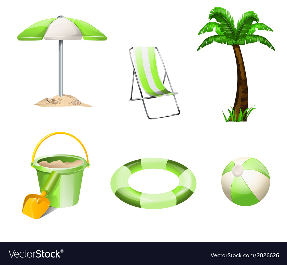 Summer objects vector | Price: 1 Credit (USD $1)