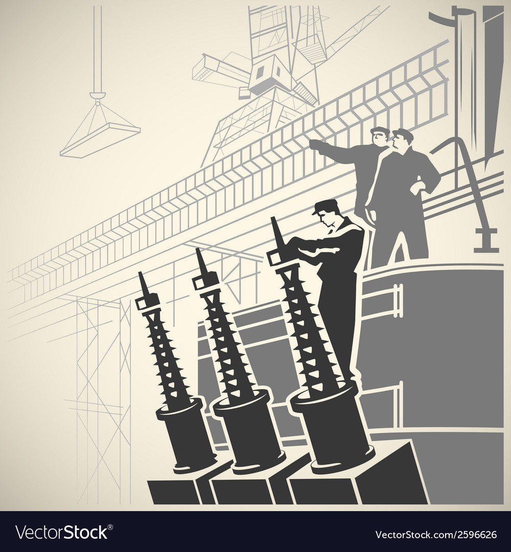 Workers5 vector | Price: 1 Credit (USD $1)