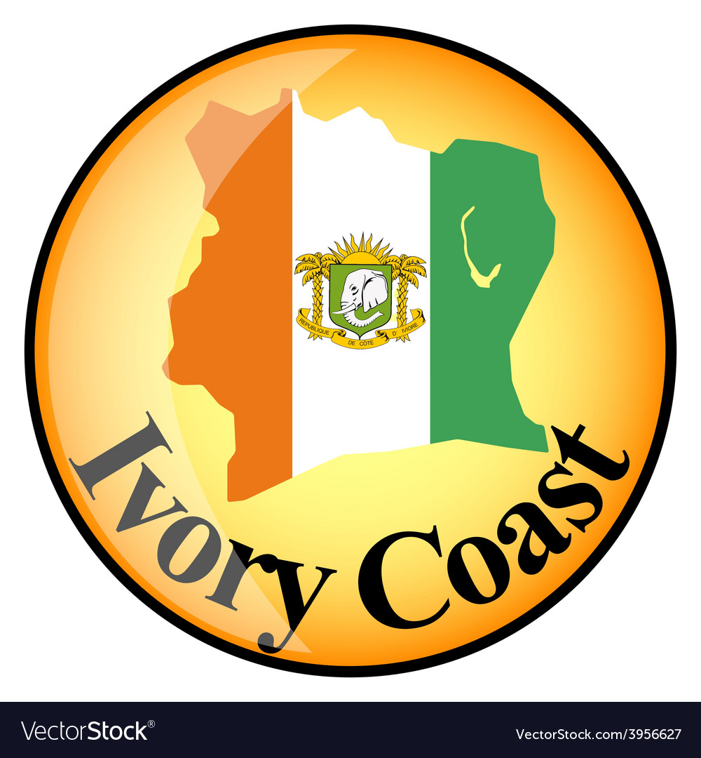 Button ivory coast vector | Price: 1 Credit (USD $1)
