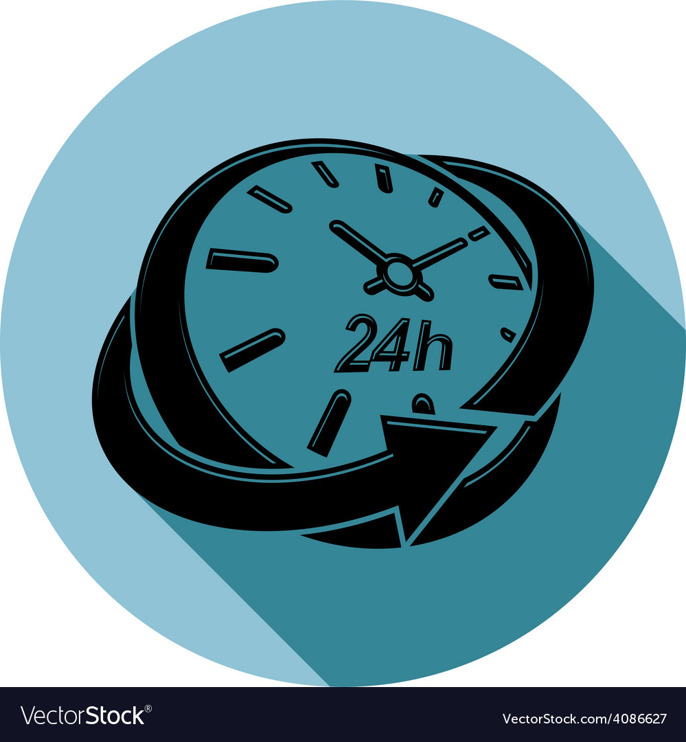 Graphic web 24 hours timer around-the-clock vector | Price: 1 Credit (USD $1)
