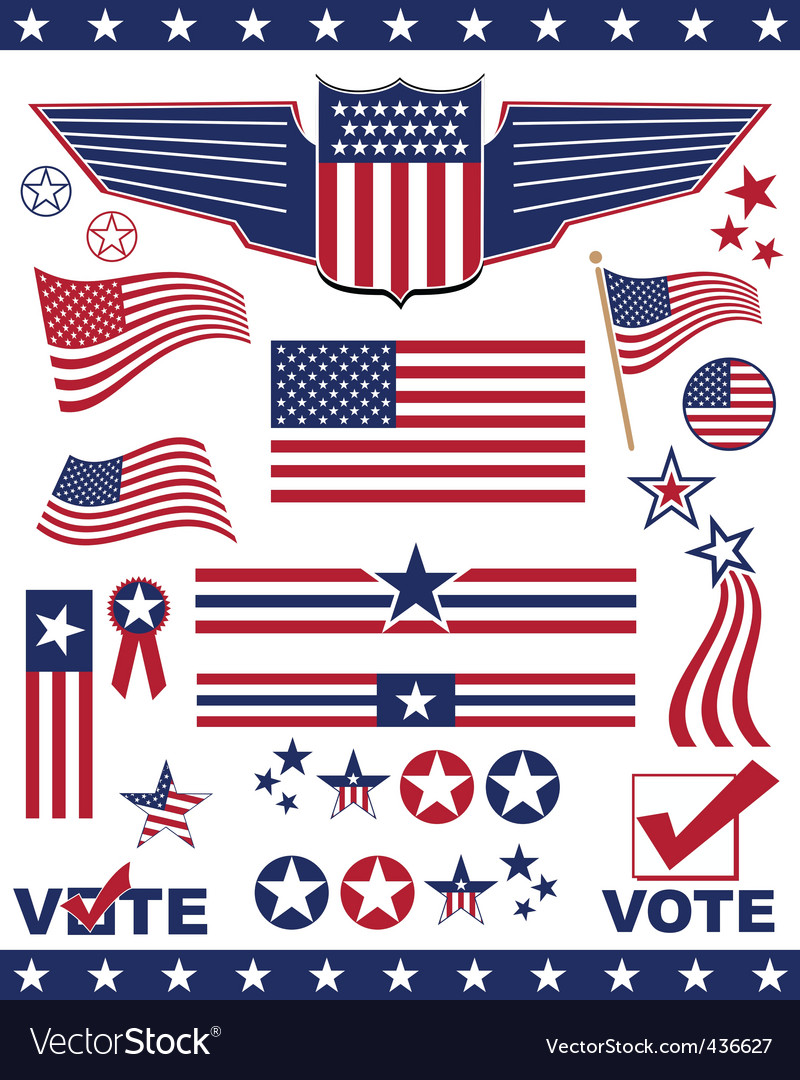 Patriotic elements vector | Price: 1 Credit (USD $1)