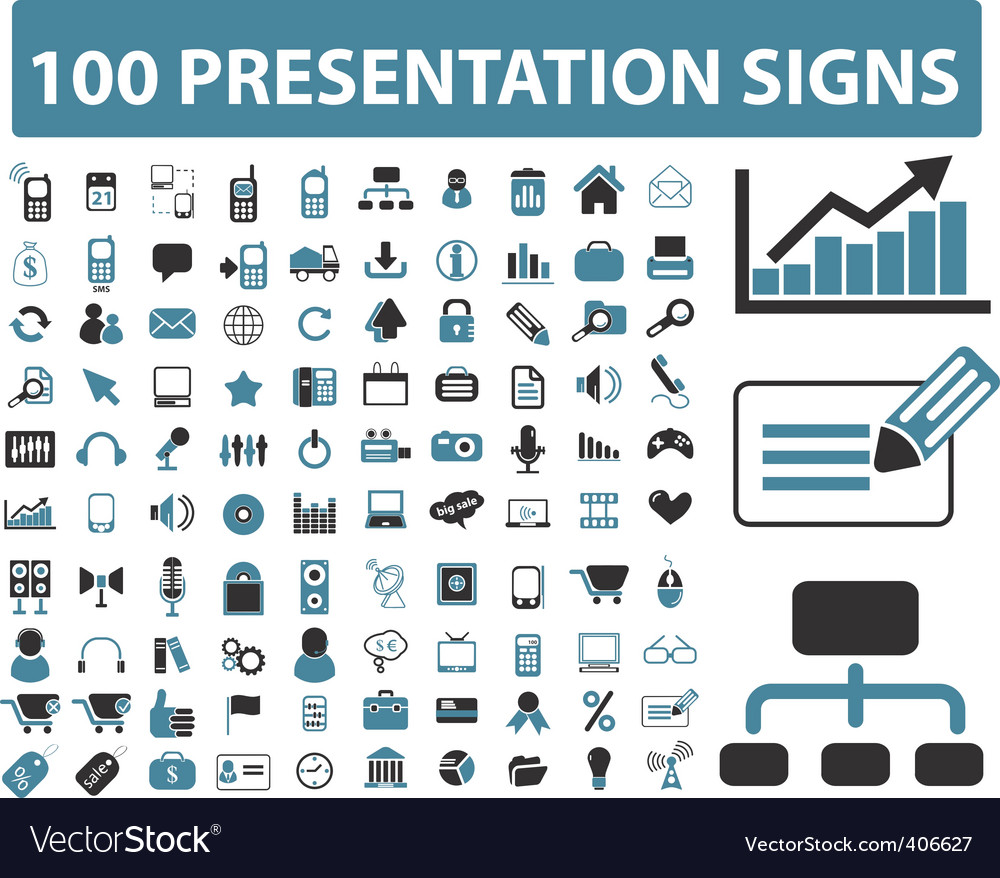 Presentation icons vector | Price: 1 Credit (USD $1)