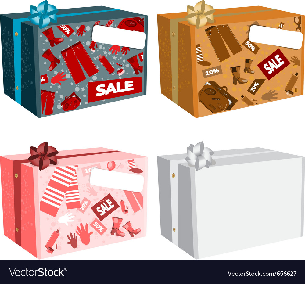 Sale cardboard boxes vector | Price: 1 Credit (USD $1)