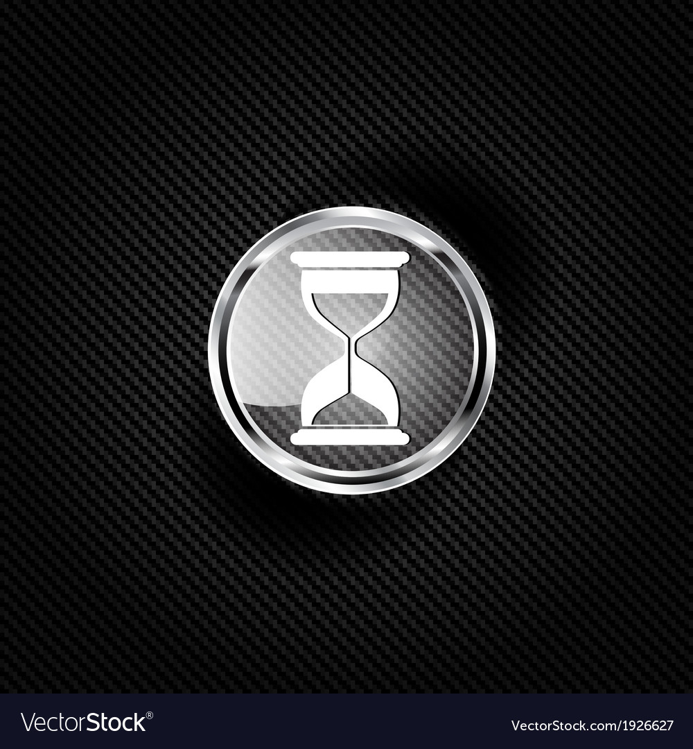 Sand clock icon glass timer symbol vector | Price: 1 Credit (USD $1)