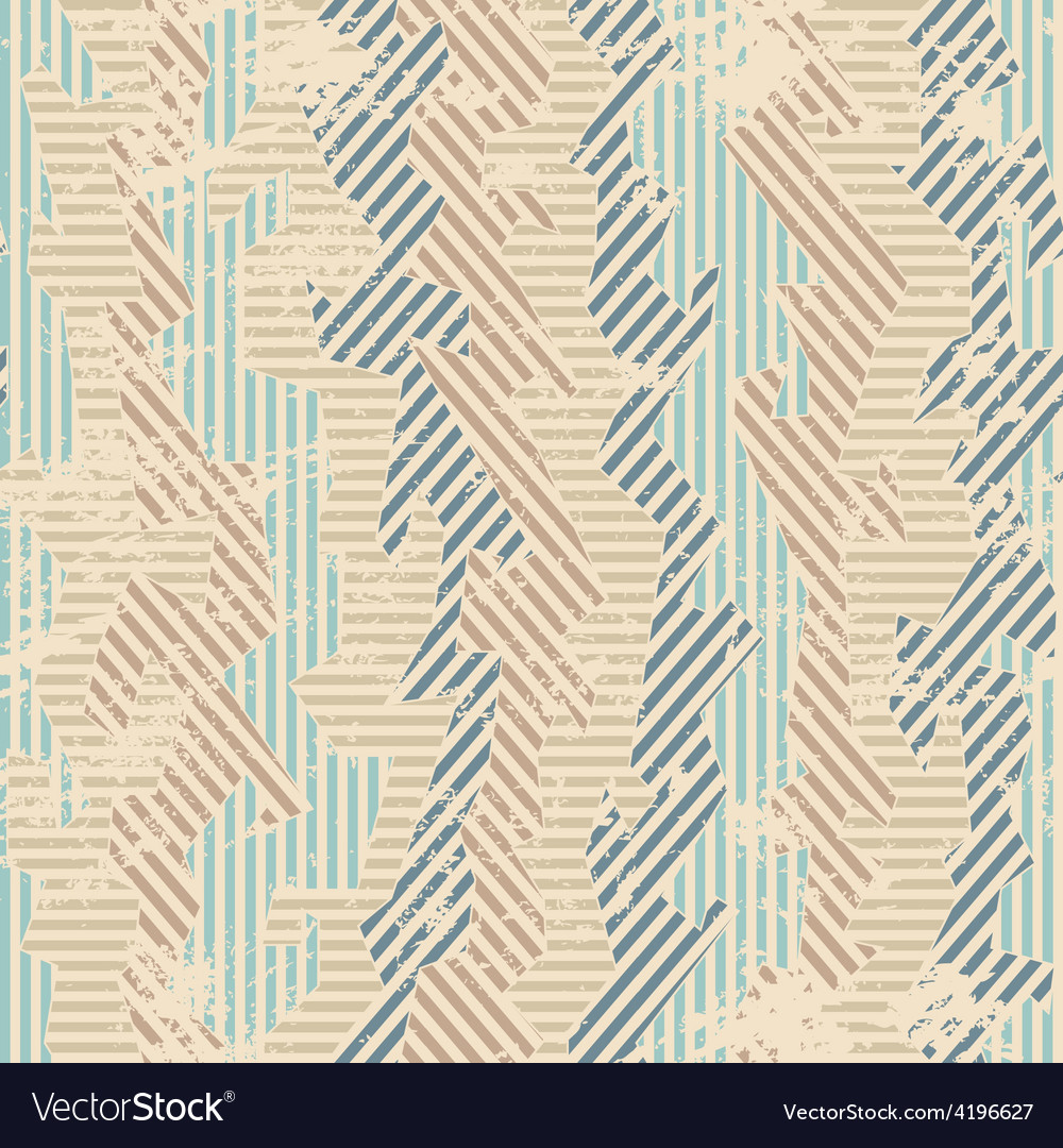 Vintage fabric seamless patten with grunge effect vector   Price: 1 Credit (USD $1)
