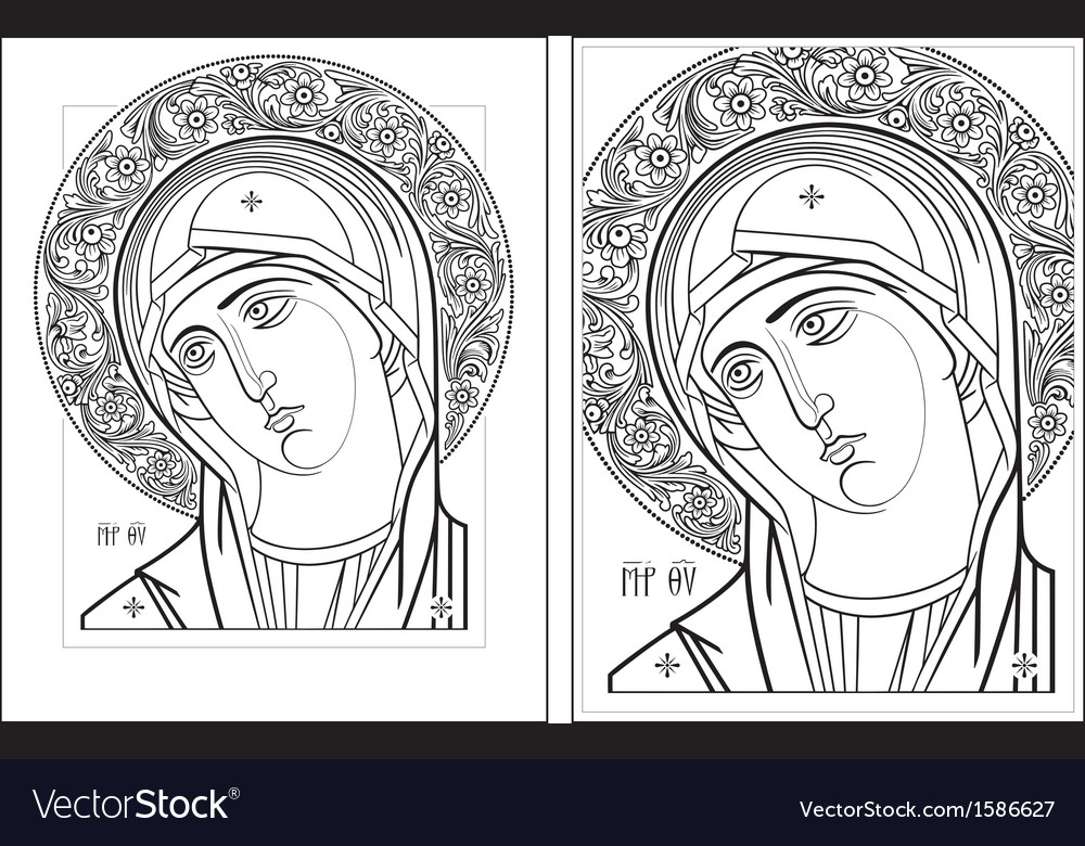 Virgin oplechnaya outline3 4 vector | Price: 1 Credit (USD $1)