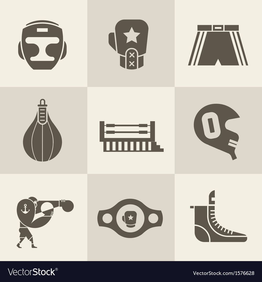 Boxing icons vector | Price: 1 Credit (USD $1)