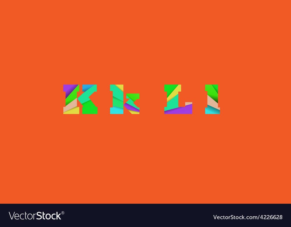 Cut into several parts within font kl vector   Price: 1 Credit (USD $1)