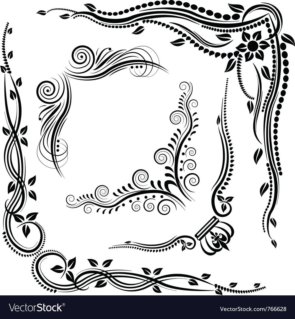 Decorative corners vector | Price: 1 Credit (USD $1)