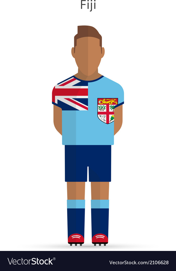 Fiji football player soccer uniform vector | Price: 1 Credit (USD $1)