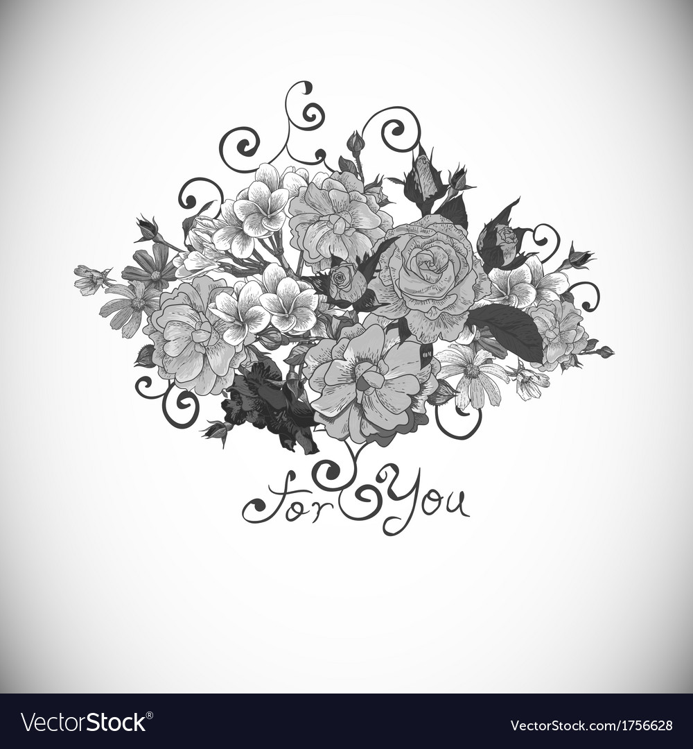 Floral ornament vintage vignette vector | Price: 1 Credit (USD $1)