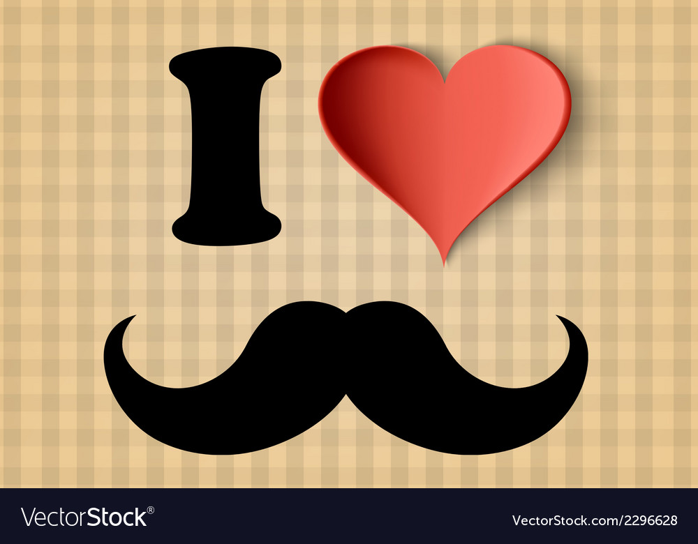 I love hipster sign vector | Price: 1 Credit (USD $1)