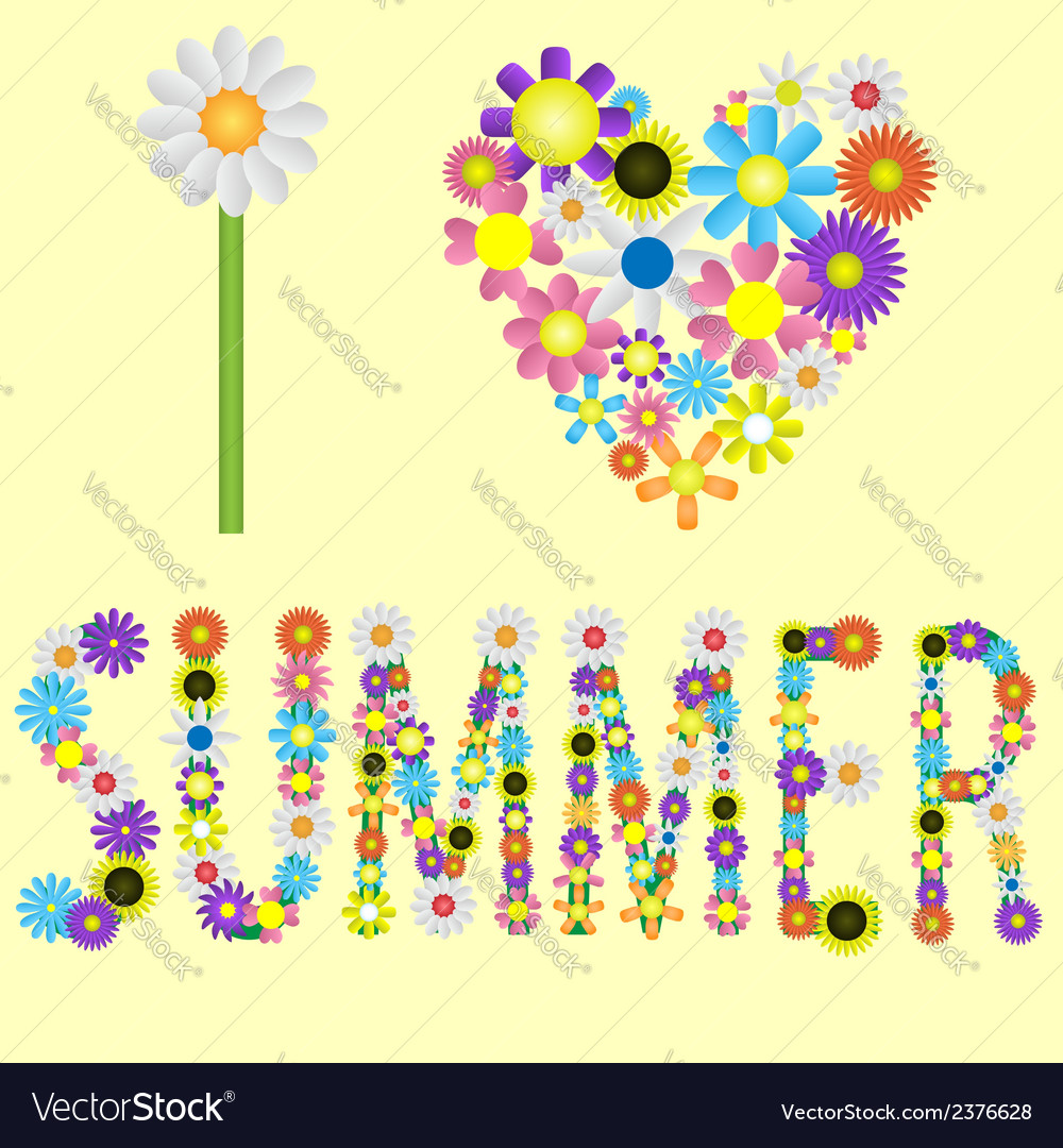 I love summer vector   Price: 1 Credit (USD $1)