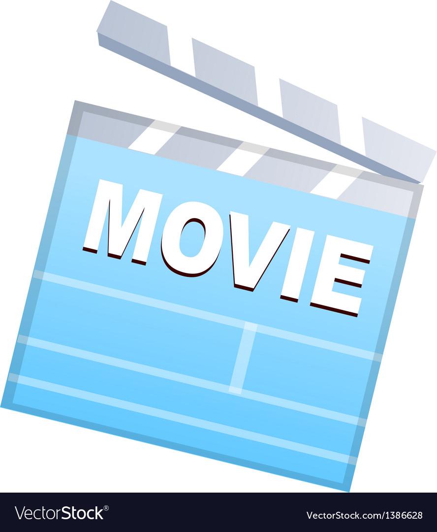 Icon movie plate vector