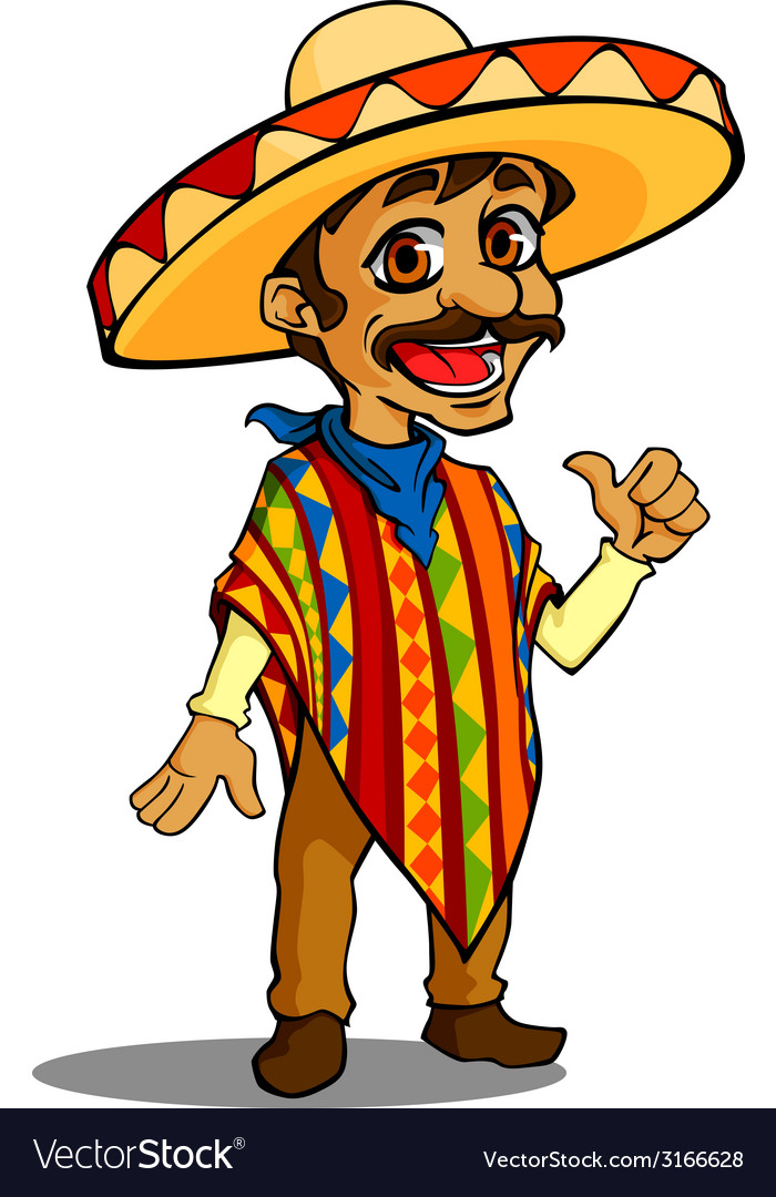 Mexican man vector | Price: 1 Credit (USD $1)