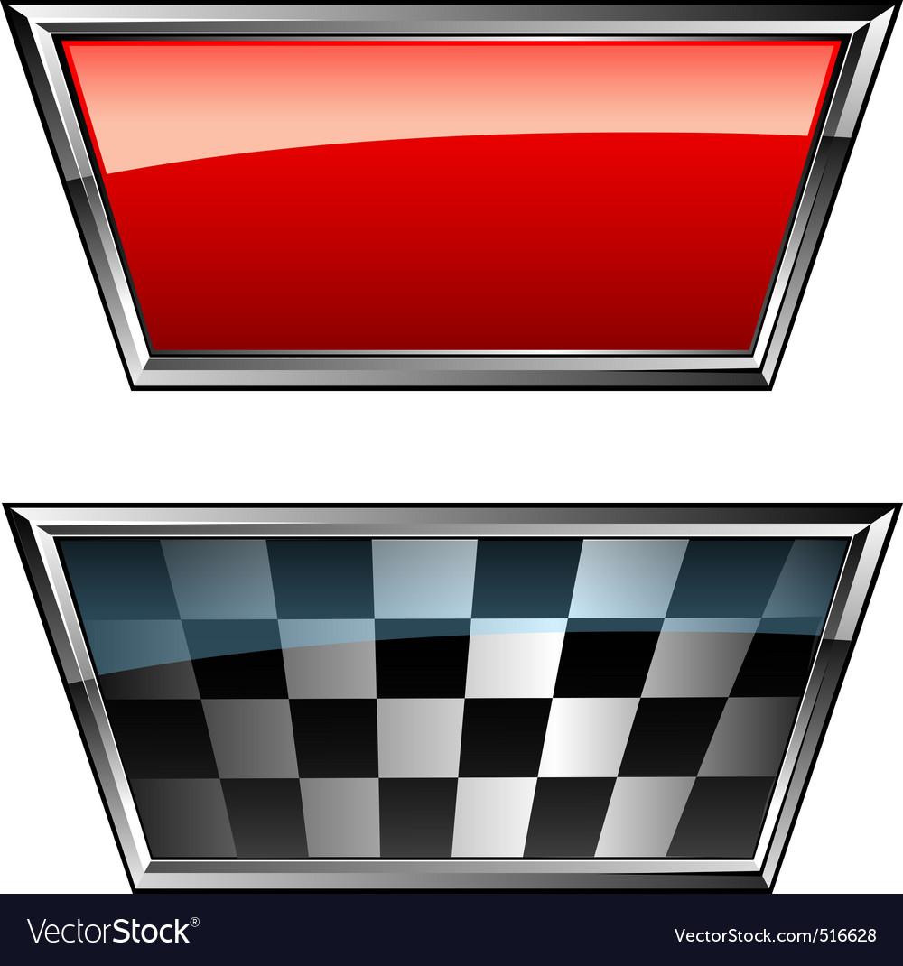 Racing flags vector