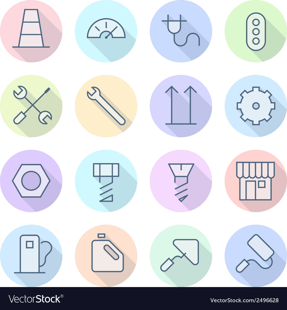 Thin line icons for industrial vector | Price: 1 Credit (USD $1)