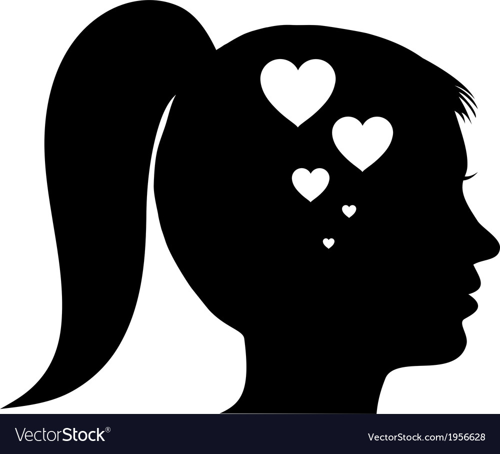 Woman in love vector | Price: 1 Credit (USD $1)