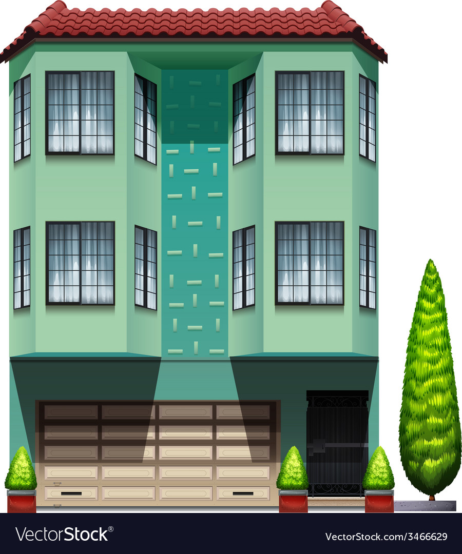 A tall commercial building vector | Price: 3 Credit (USD $3)