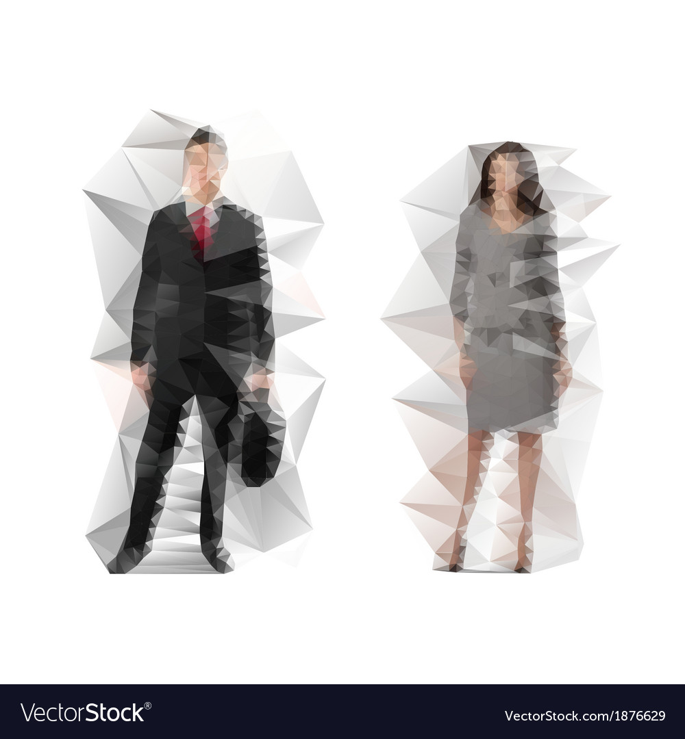 Business man and lady vector | Price: 1 Credit (USD $1)