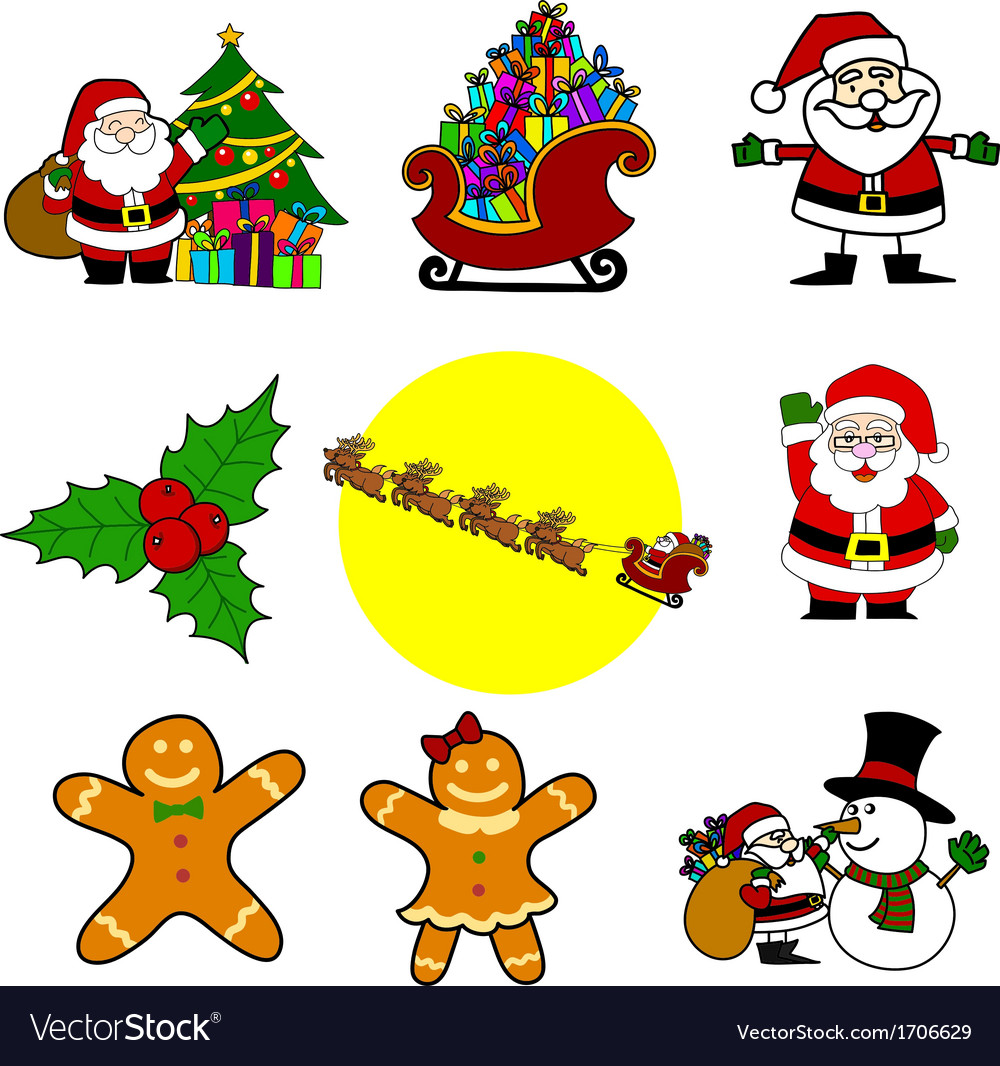 Christmas cartoon vector | Price: 1 Credit (USD $1)