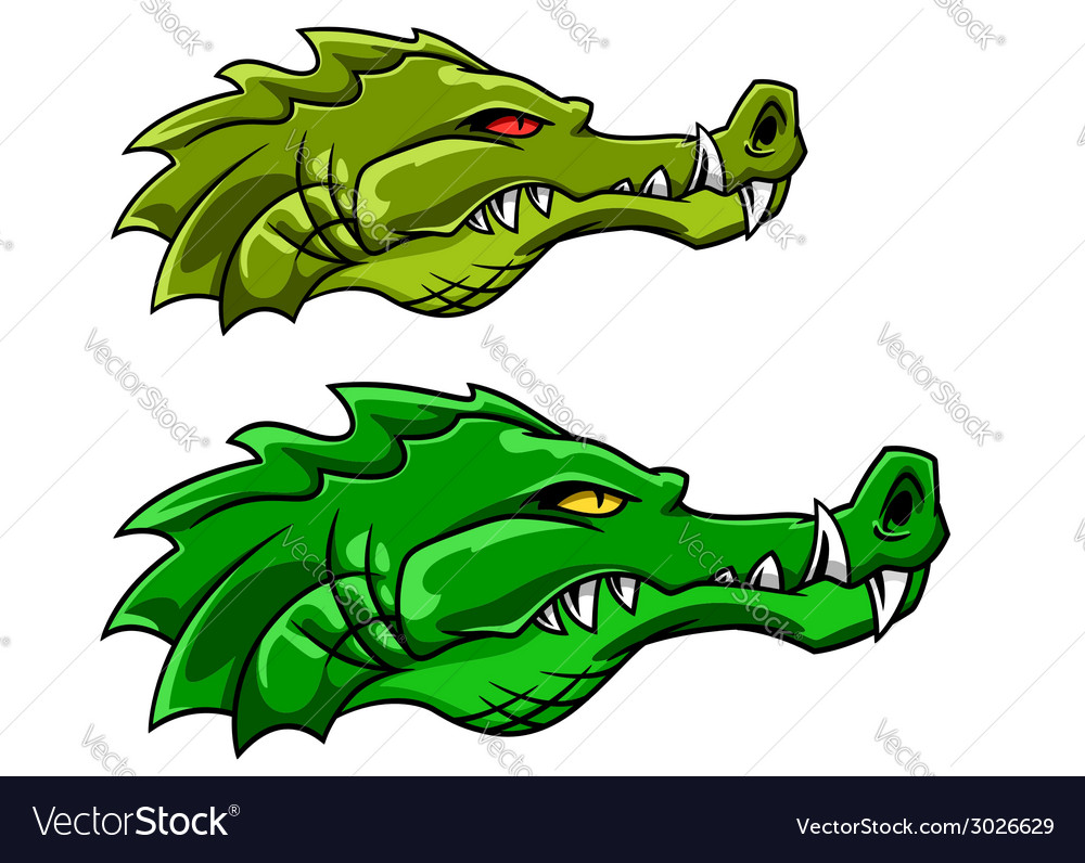 Crocodile or alligator mascot vector | Price: 1 Credit (USD $1)