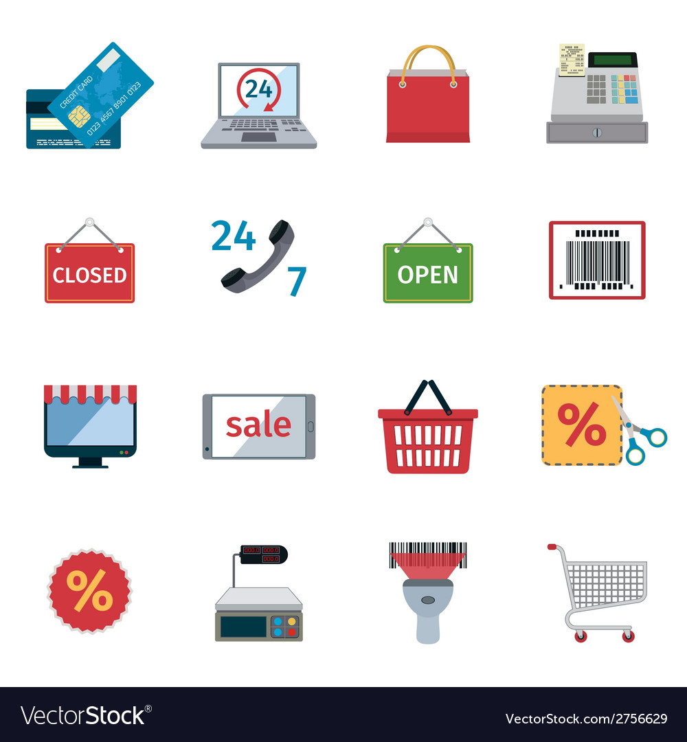 E-commerce icons set vector | Price: 1 Credit (USD $1)