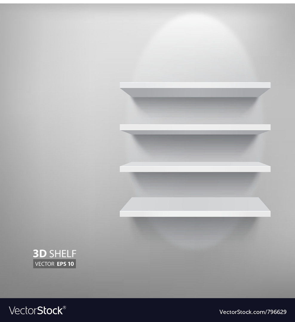 Empty white shelf vector | Price: 1 Credit (USD $1)