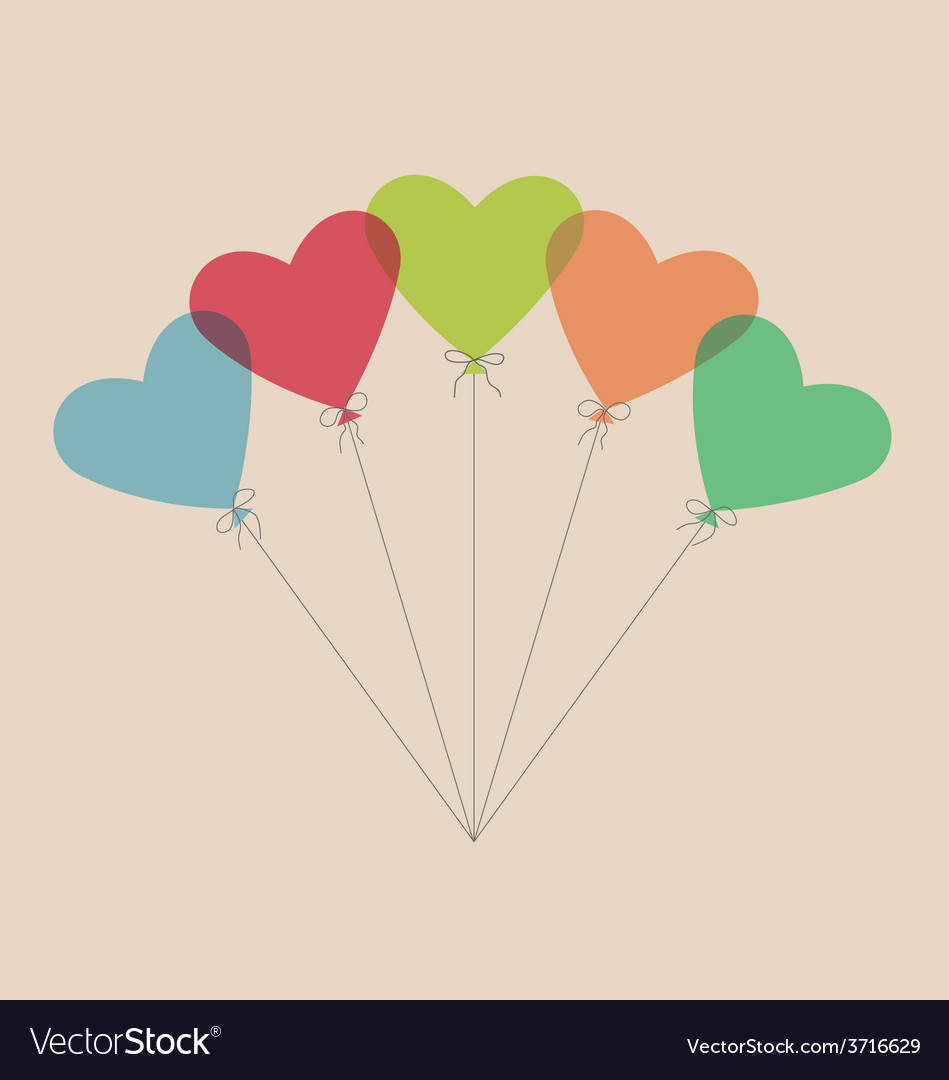 Five simple air balls in the shape of a heart vector | Price: 1 Credit (USD $1)