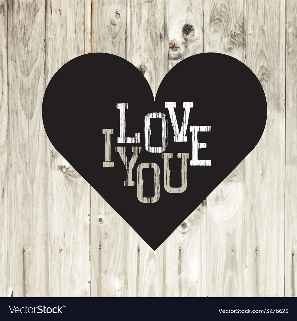 Heart on wooden texture card vector | Price: 1 Credit (USD $1)