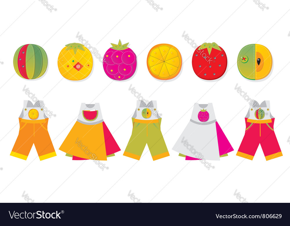Homemade childrens pockets vector | Price: 3 Credit (USD $3)