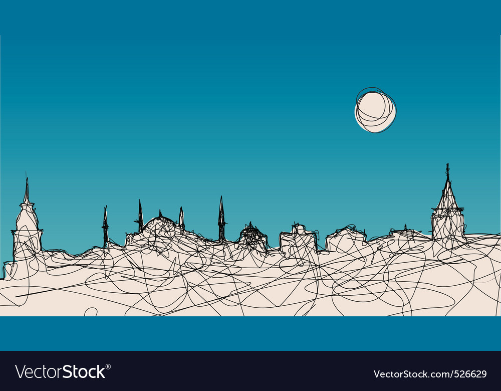 Istanbul silhouette vector | Price: 1 Credit (USD $1)