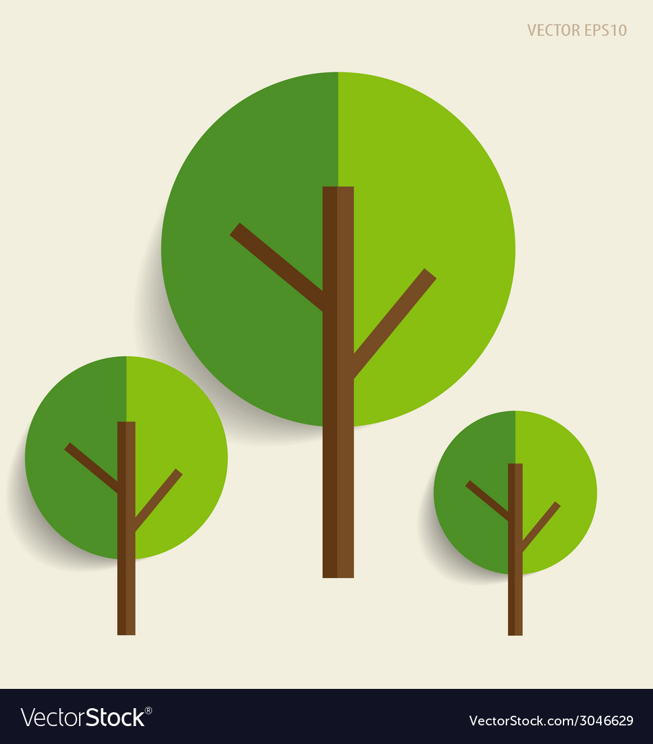 Paper green tree vector | Price: 1 Credit (USD $1)